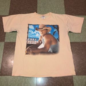 Kenny chesney tour T-shirt md guitars tiki 2004